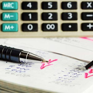 Image of calculator used for finance calculations
