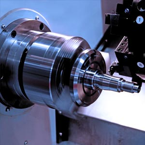 Engineering - operating a lathe