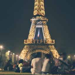 People gathered around The Eiffel Tower, Paris