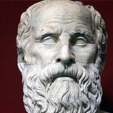 Bust of the Greek philosopher, Socrates