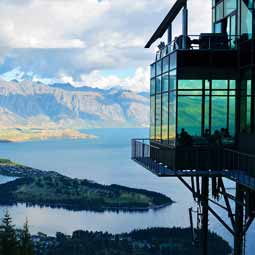 View of lake in New Zealand