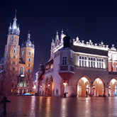 Image of Krakow main square, Poland