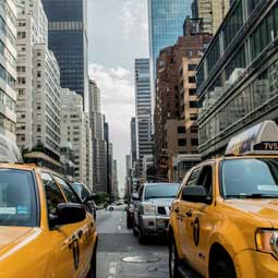 New York taxis, USA