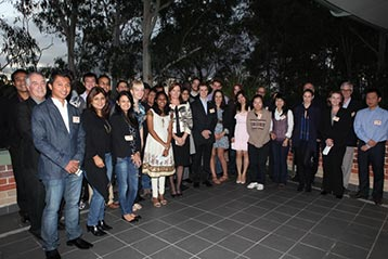 Macquarie University Deputy Vice-Chancellor Ms Caroline Trotman welcomes the recipients of the MUIS scholarship to the University