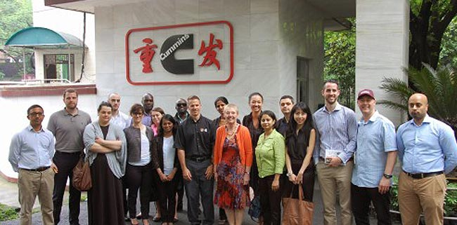 MBA students doing business in the heart of the Asian Tiger