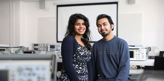 Couple travel 5,000 miles to study together